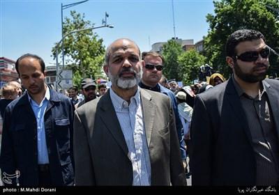 سردار وحیدی در راهپیمایی روز قدس