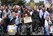 حضور باشکوه ایثارگران در راهپیمایی روز جهانی قدس