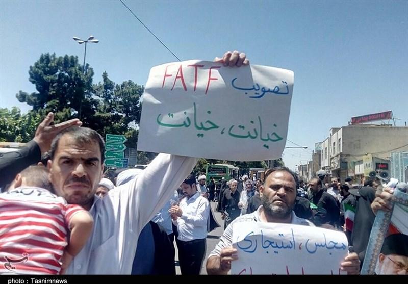 قم|مخالفت با لایحه FATF در راهپیمایی روز قدس به روایت تصویر