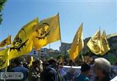 حضور لشکر فاطمیون در راهپیمایی روز قدس+تصاویر