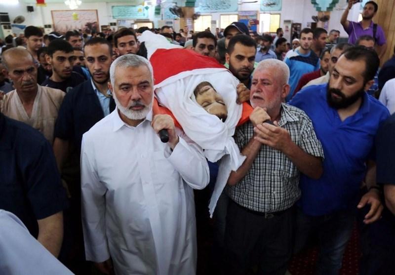 تحولات فلسطین| تشییع با شکوه شهدای راهپیمایی میلیونی قدس در غزه + تصاویر