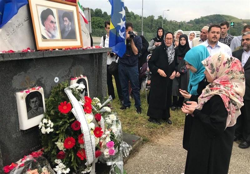 مراسم سالگرد اولین شهید ایرانی در بوسنی برگزار شد+عکس