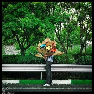 مرد گل فروش