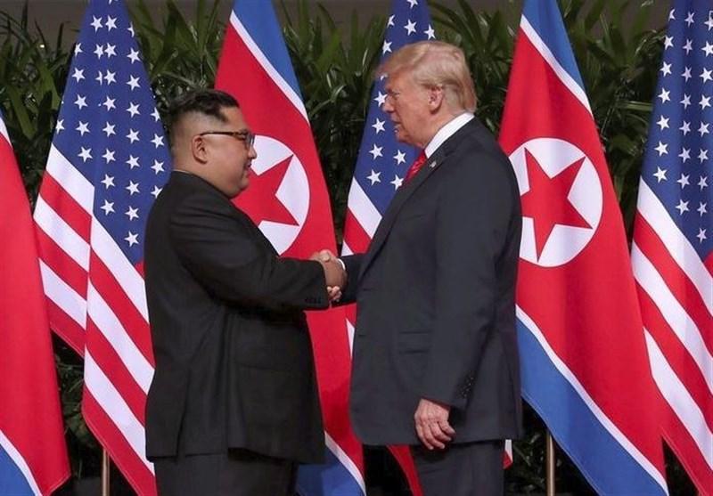 دیدار ترامپ با رهبر کره شمالی آغاز شد+تصاویر