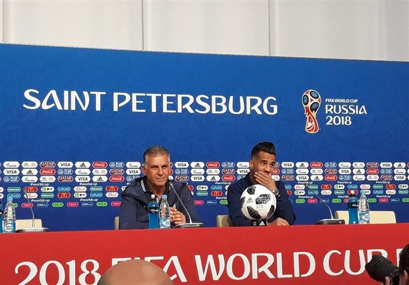 گزارش خبرنگار اعزامی تسنیم از روسیه|کیروش: امیدوارم خدای فوتبال ما را بپذیرد و جشن بگیریم/ اجازه ندادیم تحریمها تهدید یا توجیهی برای ما باشد