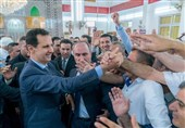 Syria's President in Rare Appearance Outside Capital