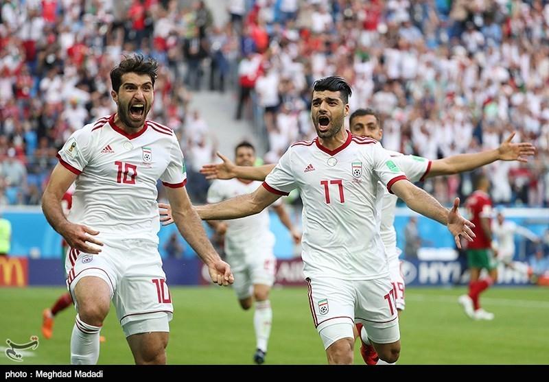 جام جهانی 2018|عیدی ملیپوشان ایران با پیروزی شیرین برابر مراکش در آخرین لحظات/ «عزیز»، عزیزِ ایران شد! + فیلم
