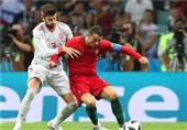 رونالدو یتعادل مع اسبانیا