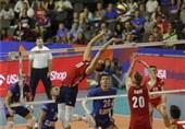 لیگ ملتهای والیبال شکست سنگین صربستان مقابل آمریکا