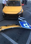 برخورد تاکسی با عابران پیاده در مسکو 8 زخمی برجای گذاشت+عکس