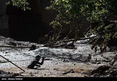 سیل و رانش زمین در روستای کاکرود لات رودسر - گیلان