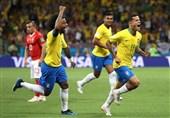 جام جهانی 2018| برتری یک نیمهای برزیل با گل زیبای کوتینیو