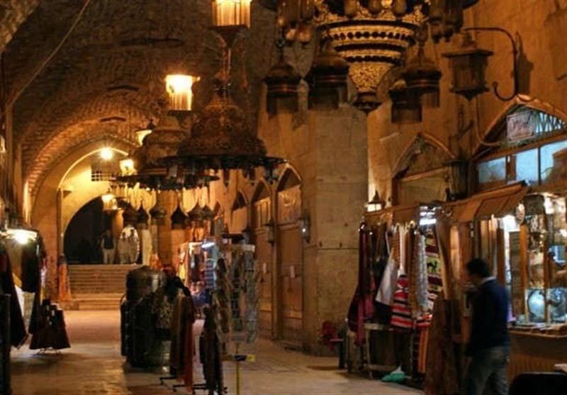 سوق خان الجمرک التاریخی فی مدینة حلب القدیمة