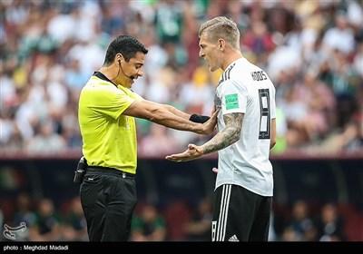علیرضا فغانی داور دیدار تیمهای ملی فوتبال آلمان و مکزیک