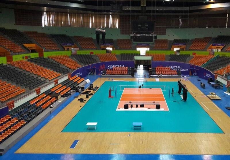 لیگ ملتهای والیبال| سالن نیمه پر آزادی میزبان والیبالیستهای ایران + عکس