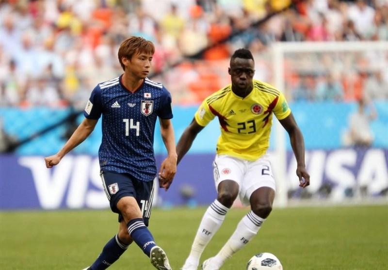 عکس: دیدار کلمبیا مقابل ژاپن