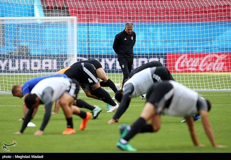 Team Melli Preparing for Match against Spain