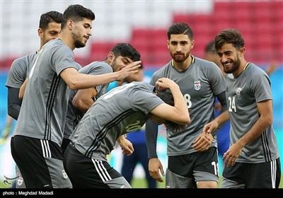 Team Melli Preparing for Match against Spain