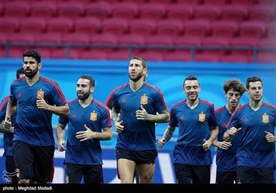 آخرین تمرین تیم ملی فوتبال اسپانیا پیش از دیدار با ایران