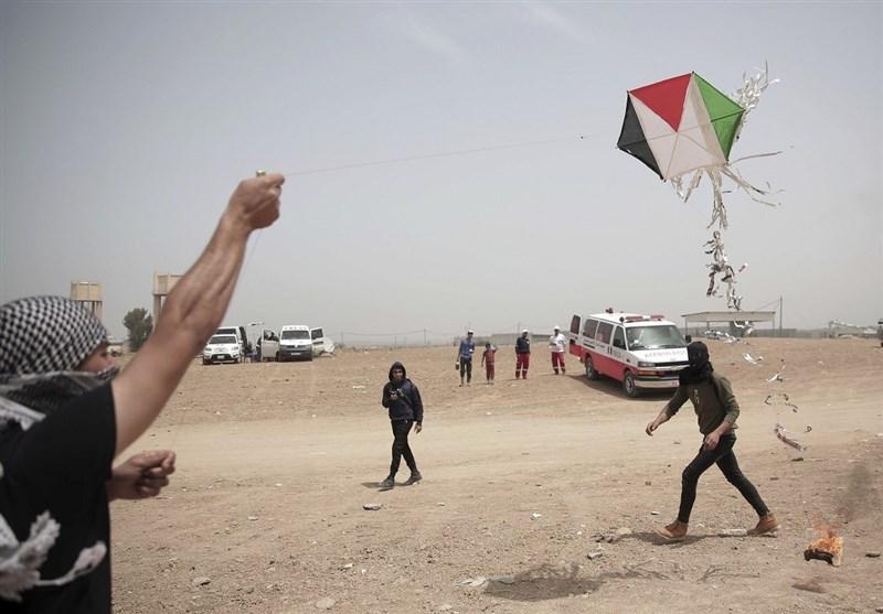 فلسطینیوں کے آتشی پتنگ صہیونیوں کے لیے وبال جان؛ اسرائیلی اخبار