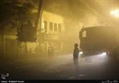 آتش سوزی یک واحد تجاری در خیابان امیرکبیر