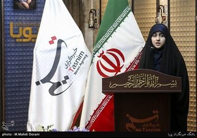 شعرخوانی مهدیه سادات حقی در هجدهمین محفل شعر قرار+فیلم