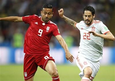 پوشش زنده/ ایران صفر - اسپانیا یک؛ تا دقیقه 62/ داور گل ایران را نپذیرفت