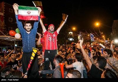 حمایت مردم ایران از تیم ملی بعد از بازی با اسپانیا
