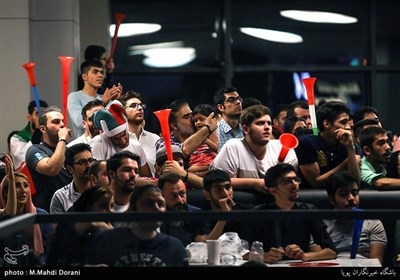 Iran Football Fans Gather in Public Places to Watch World Cup Match