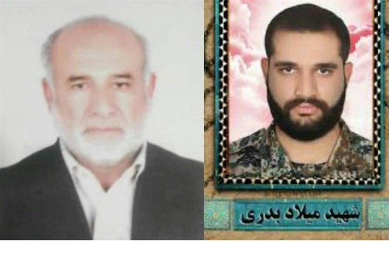 پدر جوانترین شهید مدافع حرم خوزستان به پسر شهیدش پیوست