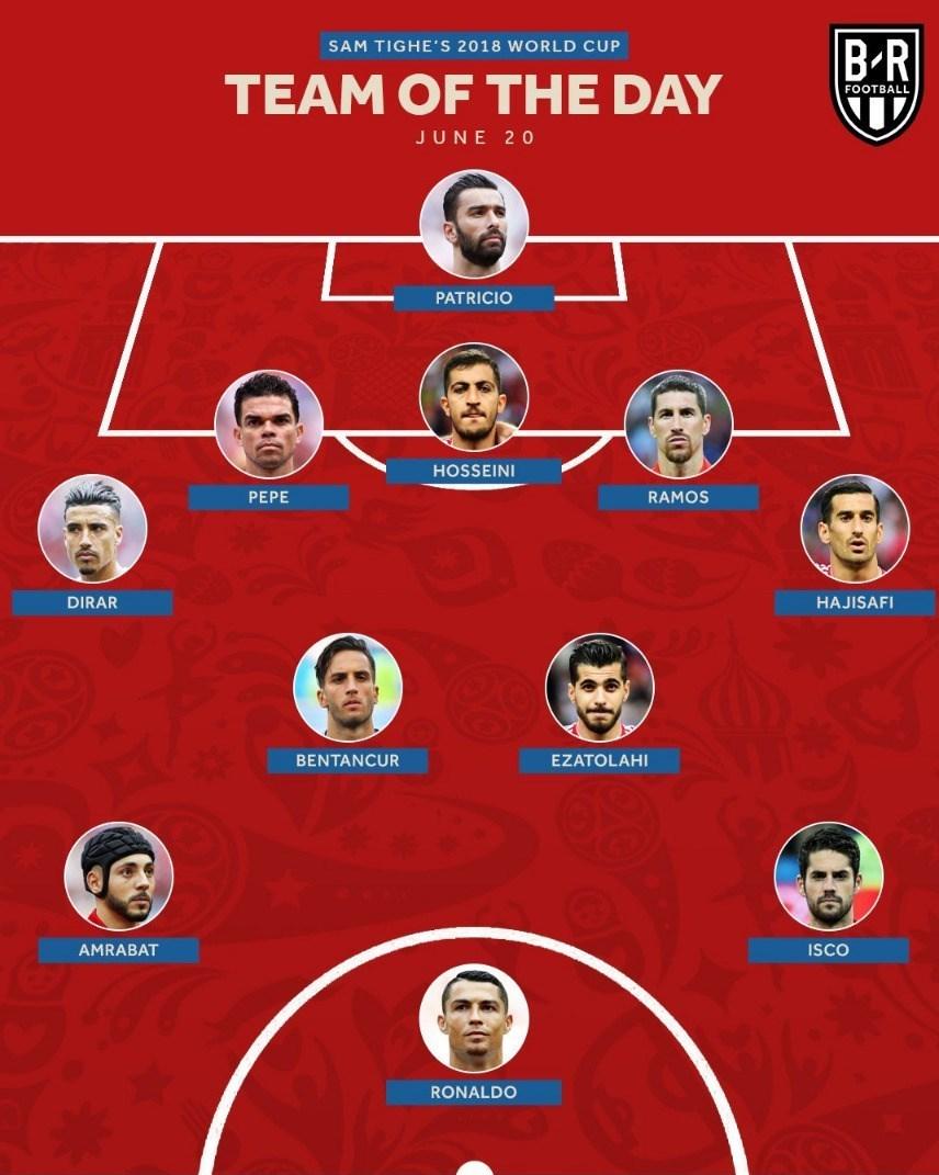 جام جهانی 2018 روسیه|سه بازیکن ایرانی در تیم منتخب بازیهای دیروز+عکس