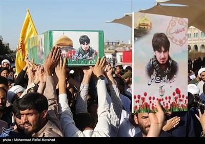 تشییع پیکر شهید مدافع حرم - قم