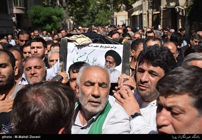 مراسم تشییع پیکر حجتالاسلام حسینی به روایت تصویر