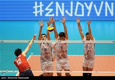 دیدار تیمهای والیبال ایران و کره جنوبی