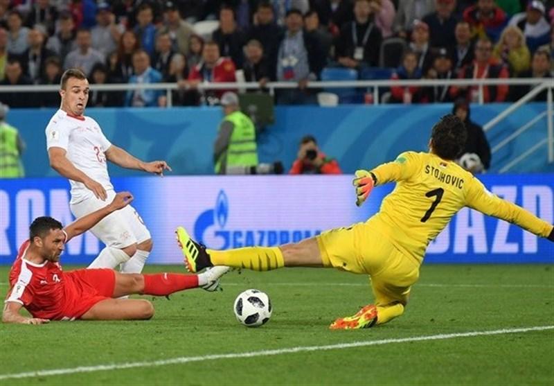 جام جهانی 2018| شادی سیاسی دو بازیکن سوئیس پس از گلزنی به صربستان + عکس