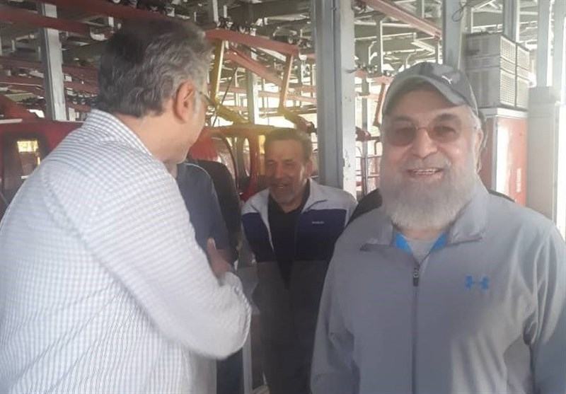 """""""مجموعه تفریحی توچال"""" حضور روحانی در تلهکابین را تایید کرد + عکس"""
