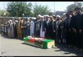 تشییع پیکر عالم شیعه غرب افغانستان در دومین روز از اعتراضهای هرات + فیلم و عکس