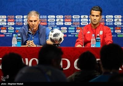کارلوس کیروش سرمربی مسعود شجاعی کاپیتان تیم ملی فوتبال ایران