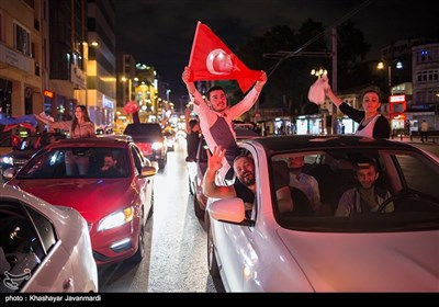 Supporters Celebrate Erdogan's Win in Turkish Presidential Election