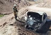 تبدیل پژو 206 به آهنپاره بر اثر سوختن در آتش + تصاویر