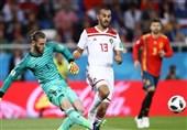 جام جهانی 2018  تساوی اسپانیا و مراکش در پایان نیمه نخست