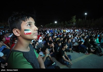 People Watch World Cup Match against Portugal in Public Places across Iran