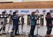 تیم ایران در تفنگ 10 متر آقایان چهارم جهان شد