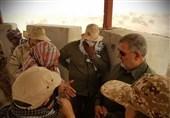 بازدید سردار پاکپور از محل درگیری سپاه با تروریستها + تصاویر
