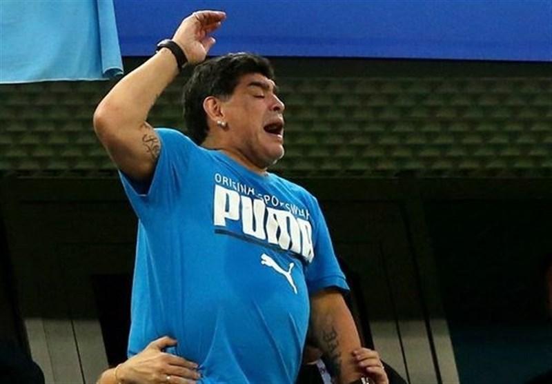 مارادونا: از تماشای بازیهای آرژانتین در جام جهانی شرمنده شدم