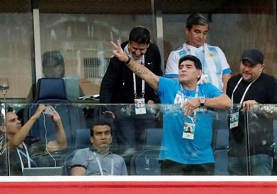 مارادونا وارد شهر برست بلاروس شد