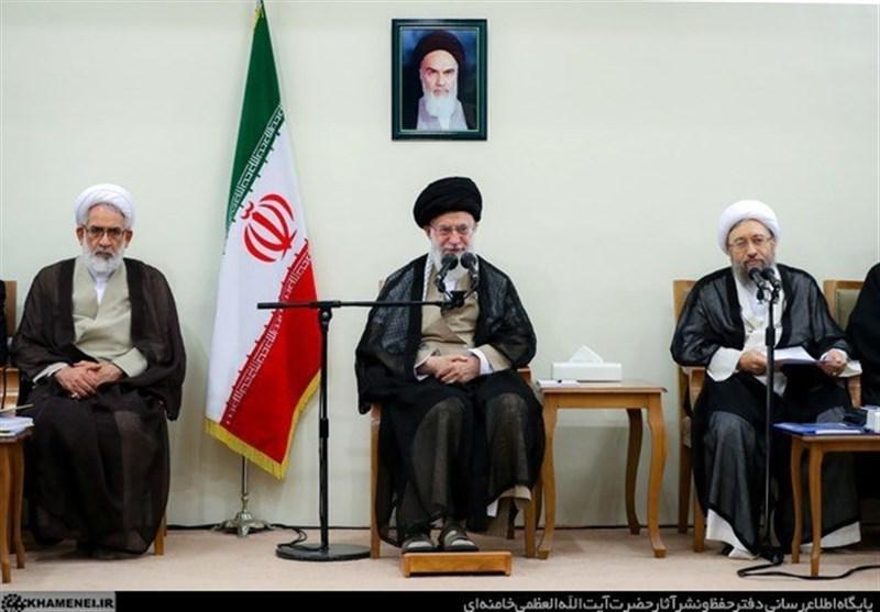 امامخامنهای: دستگاه قضا با مختلکنندگان امنیت اقتصادی برخورد کند؛ قاضی خیانتکار به مردم معرفی شود