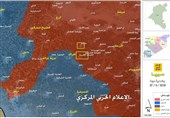 خریطة تقدم الجیش السوری فی المنطقة الجنوبیة