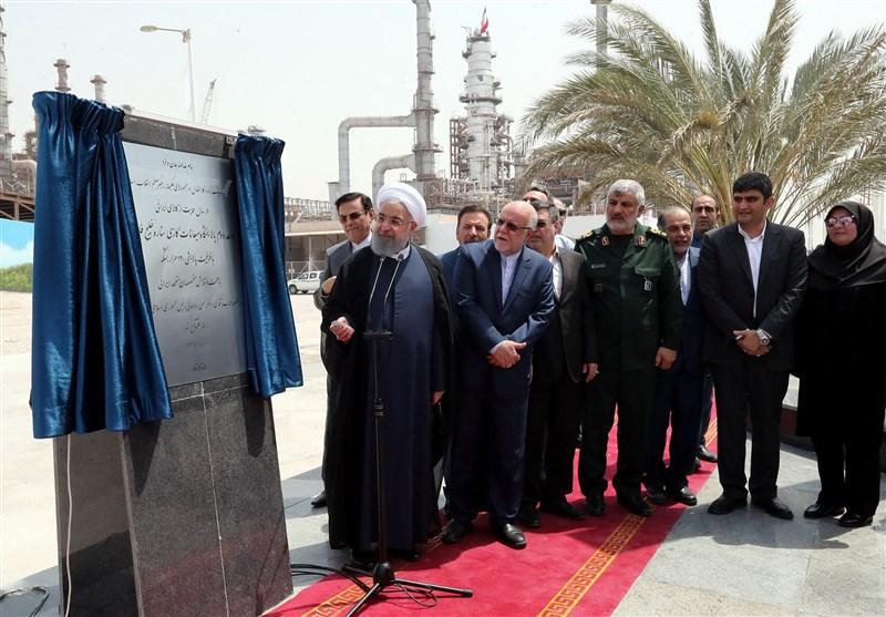 بندرعباس| افتتاح فاز دوم پالایشگاه میعانات گازی ستاره خلیج فارس با حضور رئیس جمهور