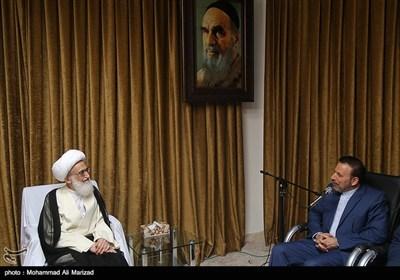 دیدار محمود واعظی رئیس دفتر رئیسجمهور با آیت الله نوری همدانی